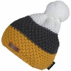 Caciula tricotata Eleven POM Mustard